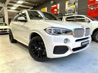 2014 BMW X5 F15 xDrive40d White Sports Automatic Wagon.