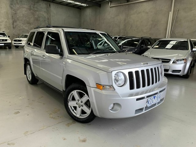 Used Jeep Patriot MK MY2010 Sport CVT Auto Stick, 2009 Jeep Patriot MK MY2010 Sport CVT Auto Stick Silver 6 Speed Constant Variable Wagon