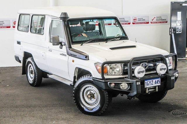 Used Toyota Landcruiser VDJ76R GXL, 2015 Toyota Landcruiser VDJ76R GXL White 5 Speed Manual Wagon