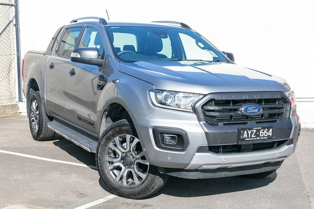 Used Ford Ranger PX MkIII 2019.75MY Wildtrak Pick-up Double Cab, 2019 Ford Ranger PX MkIII 2019.75MY Wildtrak Pick-up Double Cab Silver 10 Speed Sports Automatic