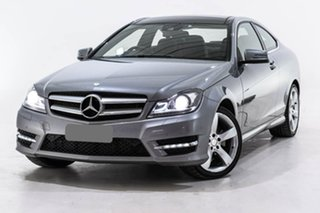 2014 Mercedes-Benz C-Class C204 MY14 C180 7G-Tronic + Silver 7 Speed Sports Automatic Coupe.