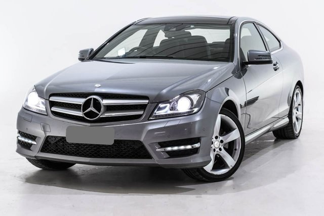 Used Mercedes-Benz C-Class C204 MY14 C180 7G-Tronic +, 2014 Mercedes-Benz C-Class C204 MY14 C180 7G-Tronic + Silver 7 Speed Sports Automatic Coupe