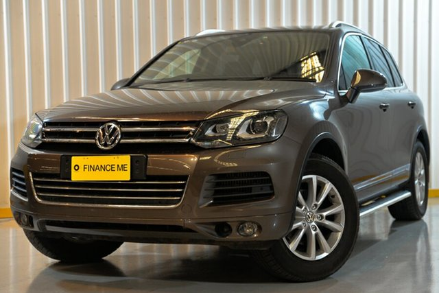 Used Volkswagen Touareg 7P MY13 150TDI Tiptronic 4MOTION, 2013 Volkswagen Touareg 7P MY13 150TDI Tiptronic 4MOTION Brown 8 Speed Sports Automatic Wagon