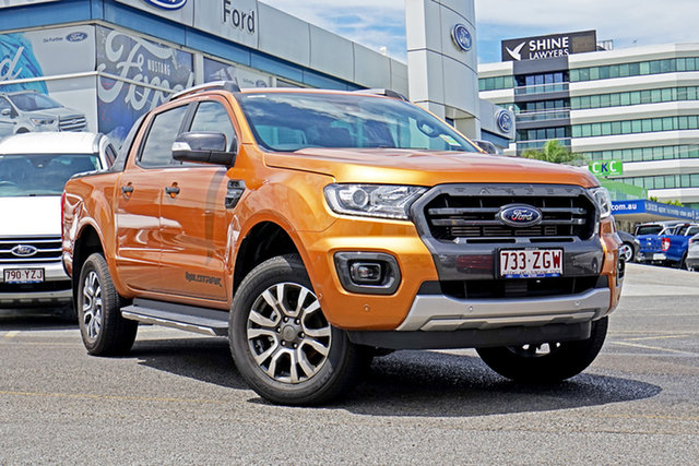 Demo Ford Ranger PX MkIII 2019.75MY Wildtrak Pick-up Double Cab, 2019 Ford Ranger PX MkIII 2019.75MY Wildtrak Pick-up Double Cab Saber 10 Speed Sports Automatic