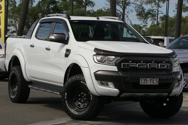 Used Ford Ranger PX MkII 2018.00MY Wildtrak Double Cab, 2018 Ford Ranger PX MkII 2018.00MY Wildtrak Double Cab White 6 Speed Sports Automatic Utility
