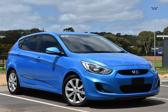Used Hyundai Accent RB5 MY17 Sport, 2017 Hyundai Accent RB5 MY17 Sport Blue 6 Speed Sports Automatic Hatchback