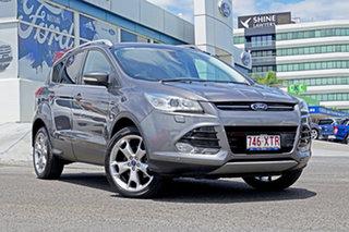 2014 Ford Kuga TF Titanium PwrShift AWD Grey 6 Speed Sports Automatic Dual Clutch Wagon.