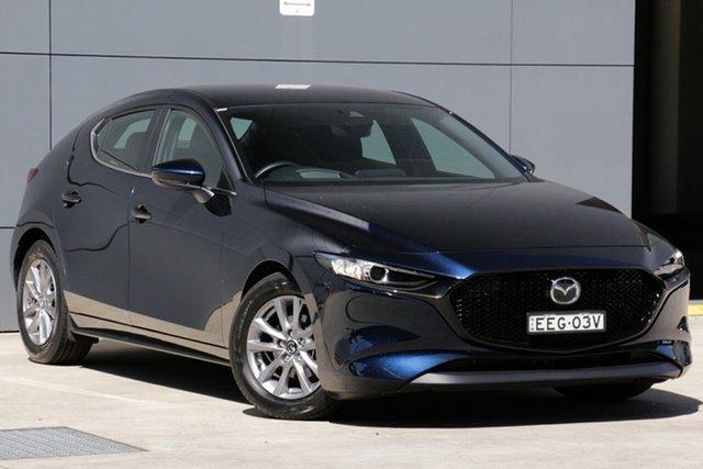 Demo Mazda 3 BP2H7A G20 SKYACTIV-Drive Pure, 2019 Mazda 3 BP2H7A G20 SKYACTIV-Drive Pure Deep Crystal Blue 6 Speed Sports Automatic Hatchback