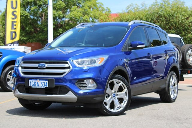 Used Ford Escape ZG Titanium, 2016 Ford Escape ZG Titanium Blue 6 Speed Automatic SUV