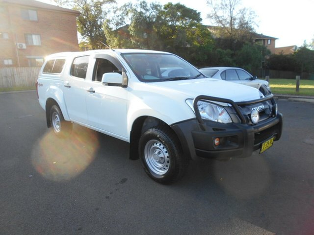 Used Isuzu D-MAX TF MY15 SX (4x4), 2014 Isuzu D-MAX TF MY15 SX (4x4) White 5 Speed Automatic Crew Cab Utility