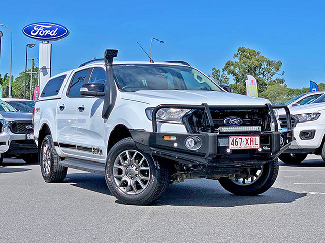 Used Ford Ranger PX MkII XLT Double Cab, 2017 Ford Ranger PX MkII XLT Double Cab White 6 Speed Sports Automatic Utility