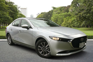 2019 Mazda 3 BP2S7A G20 SKYACTIV-Drive Pure Sonic Silver 6 Speed Sports Automatic Sedan.