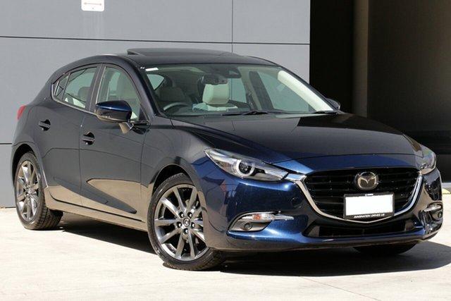 Used Mazda 3 BN5436 SP25 SKYACTIV-MT Astina, 2018 Mazda 3 BN5436 SP25 SKYACTIV-MT Astina Deep Crystal Blue 6 Speed Manual Hatchback