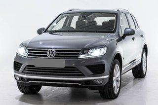 2017 Volkswagen Touareg 7P MY17 V6 TDI Tiptronic 4MOTION Grey 8 Speed Sports Automatic Wagon.