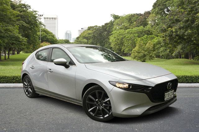 Demo Mazda 3 BP2HL6 G25 SKYACTIV-MT Evolve, 2019 Mazda 3 BP2HL6 G25 SKYACTIV-MT Evolve Sonic Silver 6 Speed Manual Hatchback