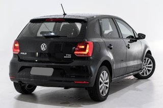 2015 Volkswagen Polo 6R MY15 81TSI DSG Comfortline Black 7 Speed Sports Automatic Dual Clutch.