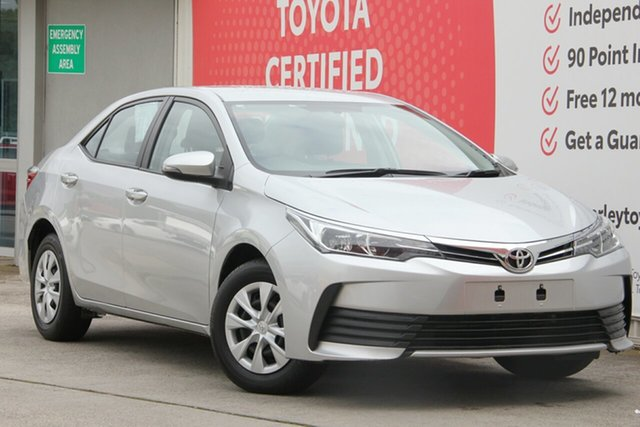 Used Toyota Corolla ZRE172R Ascent S-CVT, 2017 Toyota Corolla ZRE172R Ascent S-CVT Silver Ash 7 Speed Constant Variable Sedan