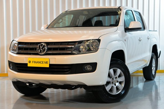 Used Volkswagen Amarok 2H MY13 TDI420 4Motion Perm Trendline, 2013 Volkswagen Amarok 2H MY13 TDI420 4Motion Perm Trendline White 8 Speed Automatic Utility