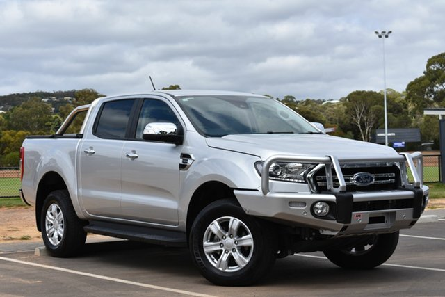Used Ford Ranger PX MkIII 2019.00MY XLT Pick-up Double Cab 4x2 Hi-Rider, 2018 Ford Ranger PX MkIII 2019.00MY XLT Pick-up Double Cab 4x2 Hi-Rider Silver 10 Speed