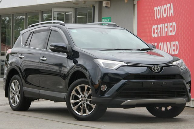 Used Toyota RAV4 ALA49R Cruiser AWD, 2017 Toyota RAV4 ALA49R Cruiser AWD Peacock Black 6 Speed Sports Automatic Wagon