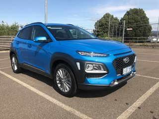 2019 Hyundai Kona OS.3 MY20 Elite D-CT AWD Blue Lagoon 7 Speed Sports Automatic Dual Clutch Wagon.
