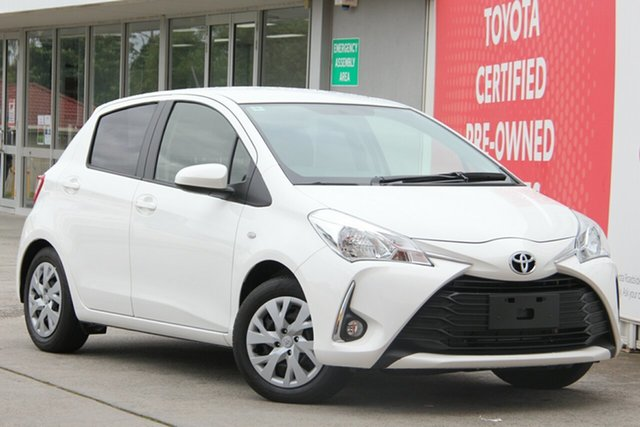 Used Toyota Yaris NCP131R SX, 2018 Toyota Yaris NCP131R SX Glacier White 4 Speed Automatic Hatchback