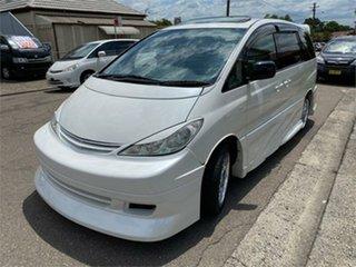 2005 Toyota Estima MCR30 Aeras S White Automatic Wagon.