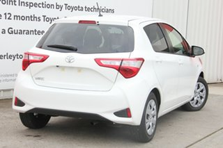 2018 Toyota Yaris NCP131R SX Glacier White 4 Speed Automatic Hatchback.
