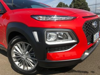2019 Hyundai Kona OS.3 MY20 Elite D-CT AWD Tangerine Comet 7 Speed Sports Automatic Dual Clutch.