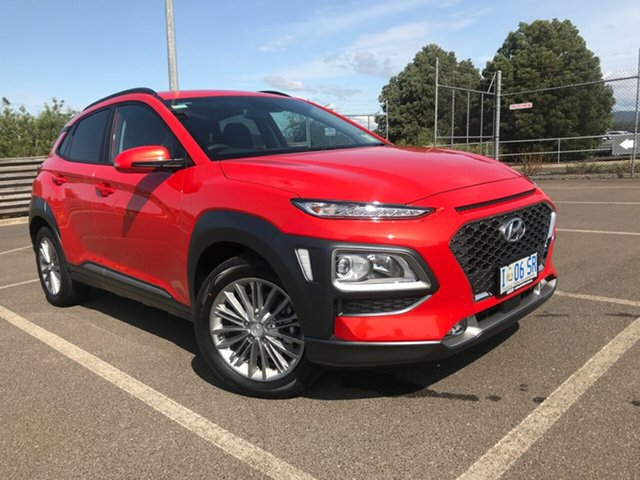 Demo Hyundai Kona OS.3 MY20 Elite D-CT AWD, 2019 Hyundai Kona OS.3 MY20 Elite D-CT AWD Tangerine Comet 7 Speed Sports Automatic Dual Clutch