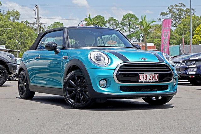 Used Mini Convertible F57 Cooper, 2018 Mini Convertible F57 Cooper Caribbean Blue 6 Speed Automatic Convertible