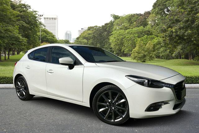Used Mazda 3 BN5438 SP25 SKYACTIV-Drive Astina, 2018 Mazda 3 BN5438 SP25 SKYACTIV-Drive Astina White 6 Speed Sports Automatic Hatchback
