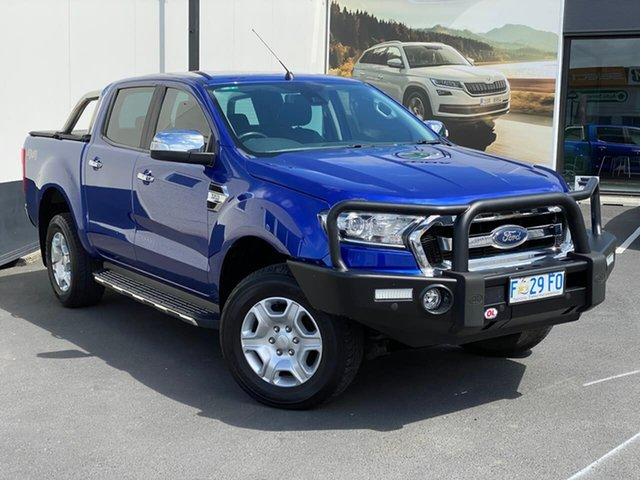 Used Ford Ranger PX MkII XLT Double Cab, 2016 Ford Ranger PX MkII XLT Double Cab Blue 6 Speed Manual Utility