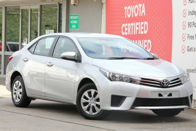 Used Toyota Corolla ZRE172R Ascent S-CVT, 2016 Toyota Corolla ZRE172R Ascent S-CVT Silver Ash 7 Speed Constant Variable Sedan