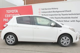 2018 Toyota Yaris NCP131R SX Glacier White 4 Speed Automatic Hatchback