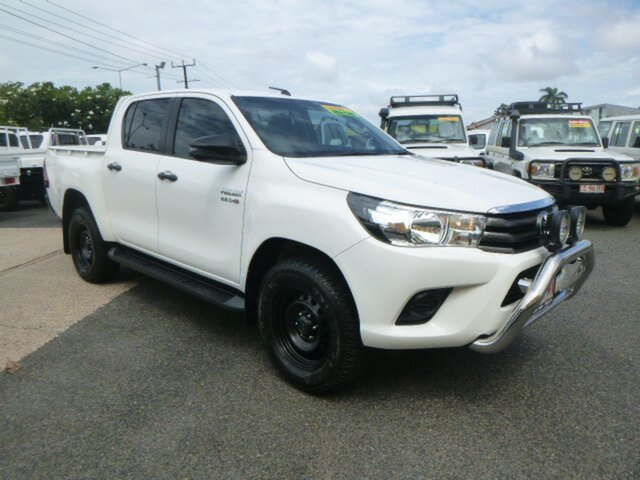 Used Toyota Hilux GUN136R , 2018 Toyota Hilux GUN136R SR Double Cab 4x2 Hi-Ride White 6 Speed Manual Utility
