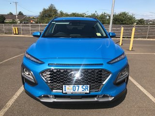2019 Hyundai Kona OS.3 MY20 Elite D-CT AWD Blue Lagoon 7 Speed Sports Automatic Dual Clutch Wagon