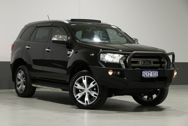 Used Ford Everest UA MY18 Titanium (4WD), 2018 Ford Everest UA MY18 Titanium (4WD) Black 6 Speed Automatic Wagon