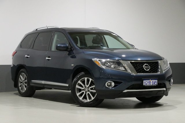 Used Nissan Pathfinder R52 ST-L (4x4), 2014 Nissan Pathfinder R52 ST-L (4x4) Blue Continuous Variable Wagon