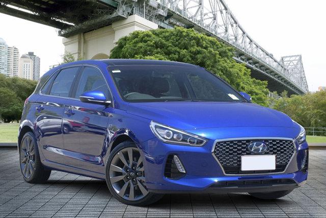Used Hyundai i30 PD MY18 SR D-CT Premium, 2018 Hyundai i30 PD MY18 SR D-CT Premium Blue 7 Speed Sports Automatic Dual Clutch Hatchback