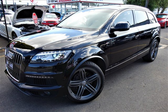 Used Audi Q7 MY13 TDI Tiptronic Quattro, 2012 Audi Q7 MY13 TDI Tiptronic Quattro Black 8 Speed Sports Automatic Wagon