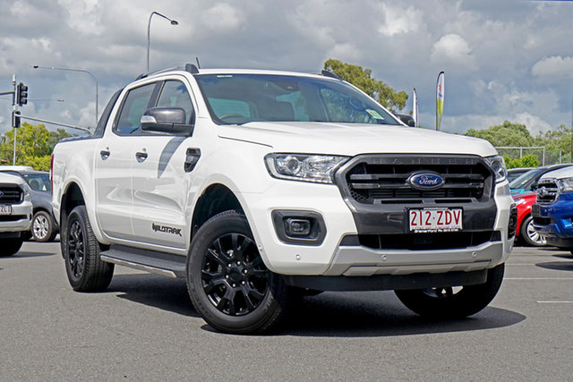 Used Ford Ranger PX MkIII 2019.75MY Wildtrak Pick-up Double Cab, 2019 Ford Ranger PX MkIII 2019.75MY Wildtrak Pick-up Double Cab Arctic White 6 Speed