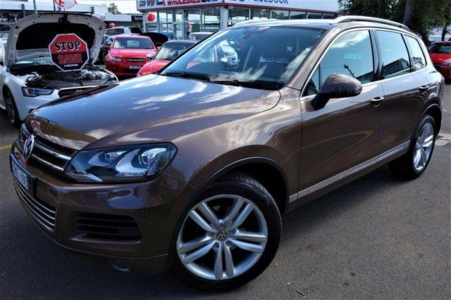 Used Volkswagen Touareg 7P MY12.5 V6 TDI Tiptronic 4XMotion, 2012 Volkswagen Touareg 7P MY12.5 V6 TDI Tiptronic 4XMotion Bronze 8 Speed Sports Automatic Wagon