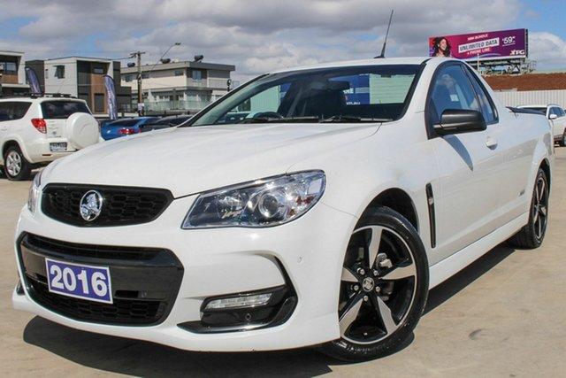 Used Holden Ute VF II MY16 SV6 Ute Black, 2016 Holden Ute VF II MY16 SV6 Ute Black White 6 Speed Sports Automatic Utility