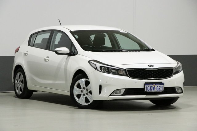 Used Kia Cerato YD MY18 S, 2017 Kia Cerato YD MY18 S White 6 Speed Auto Seq Sportshift Hatchback