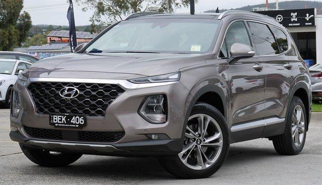 Demo Hyundai Santa Fe TM MY19 Highlander, 2019 Hyundai Santa Fe TM MY19 Highlander Tan Brown 8 Speed Sports Automatic Wagon