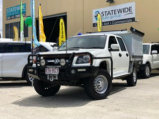 2010 Holden Colorado RC MY10 LX (4x4) White 5 Speed Manual Crew Cab Pickup.