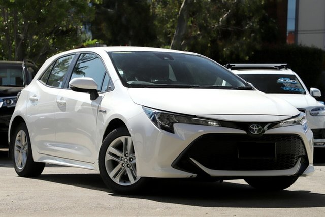 Used Toyota Corolla ZWE211R Ascent Sport E-CVT Hybrid, 2018 Toyota Corolla ZWE211R Ascent Sport E-CVT Hybrid White 10 Speed Constant Variable Hatchback