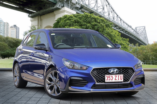 Used Hyundai i30 PD.3 MY19 N Line D-CT, 2018 Hyundai i30 PD.3 MY19 N Line D-CT Blue 7 Speed Sports Automatic Dual Clutch Hatchback