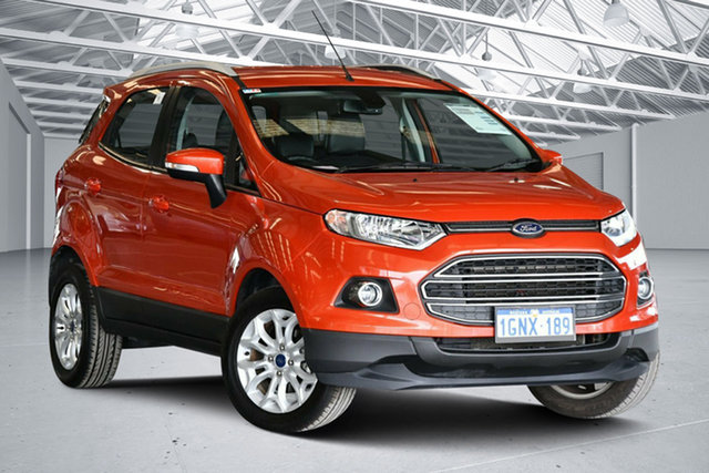 Used Ford Ecosport BK Titanium 1.5, 2017 Ford Ecosport BK Titanium 1.5 Competition Orange 6 Speed Direct Shift Wagon
